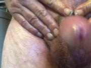 Rubbing my cock and balls in your face