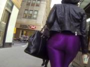 Fat big ass in tight spandex black girl