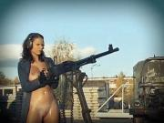 PUMP ACTION - oiled babes tease and shoot