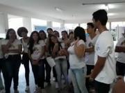 Professora fazendo boquete em aluno