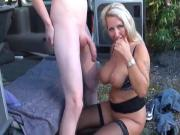 redhead boy with big dick knows how to fuck sexy mature wife