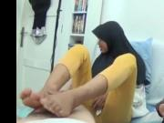 Asian teen footjob