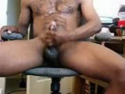 blk dude tosses a load