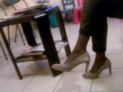 Candid high heels and nylons