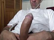 Huge Daddy Jerking At The Office