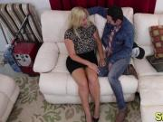 Big boobs blonde MILF Karen Fisher gets relaxed and fucked