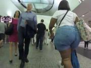 Big booty at the airport
