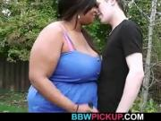 He doggy-fucks black fat bitch