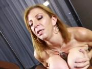 Hot MILF Sara Jay Gives POV Blowjob on BBC for Cum!