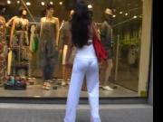 White Pants and Thong