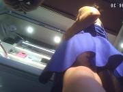 Older Israeli Friend Blue Dress Upskirt