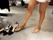 candid girl, legs sexy feets toes long nails