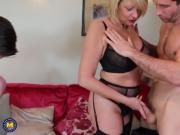 Real sexy moms suck and fuck young cocks