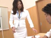 Naughty teacher getting her wet pussy cream fucked