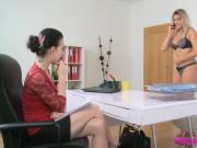 FemaleAgent Minx cheats on boyfriend with agent