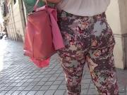 MILF Butt In Patterned Trousers