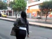 Colombiana con leguiss trasparente
