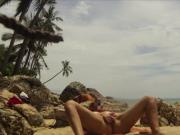 Thailand public beach masturbation and orgasm