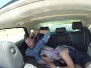Alana Luv sucks Mitts cock in car before her gangbang shoot
