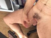 Naked Uncut Daddy Cumshot