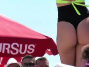 Big Ass Thongs Latina Bikini Dancers Beach Voyeur HD Video