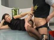She allowed hump her legs and cum on ass