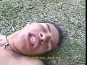 Latino bareback forest