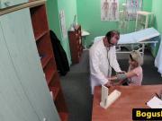 Creampied euro patient riding doctors dick