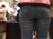 Tall Ebony Ass in Jeans