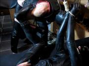Rubber Slave Bondage & Spanking