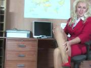 Secretary Milf In Pantyhose Fingering In Office #MrBrain1988