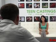 Casting latina teen gets hardfucked