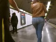 Her jeans ass got huge