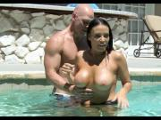 Cougar gets Cock lessons in the pool
