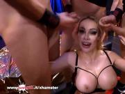 Super busty Pornstar Chessie Kay tries her first German orgy
