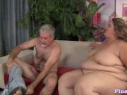 Beautiful ssbbw tittyfucked by hard cock