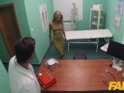 Fake Hospital Sweet blonde Russian eats docs cum