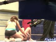 Wrestling babes shake their big asses