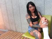 Fetisch-Concept.com - 2 Scenes Tattoo Model mit Gipsbein