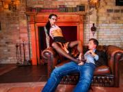 BUMS BUERO - German MILF enjoys cock sucking in the office