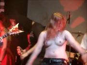More topless rock chicks on stage