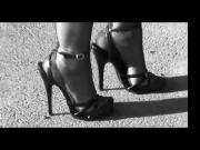 5,5inch High Heels Sandals and Fully Fashioned Stockings.mp4