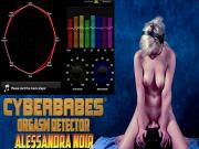 Alessandra Noir naked takes Sybian 100% REAL ORGASMS Science