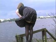 Gisela secretary without panties in the city