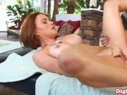 Busty massaged MILF gets happy ending facial