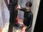 Latex Piss Slut - Pee into my Mouth