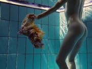 Hot big titted teen Lera swimming in the pool