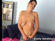Busty Giovanni on hot morning masturbation