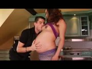 Hot Pregnant being Fucked in the Kitchen