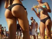 Candid latina beach big ass 7